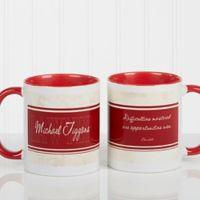 Inspiring Lawyer 11 oz. Coffee Mug in White/Red
