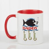 Hooked on You 11 oz. Coffee Mug in Red