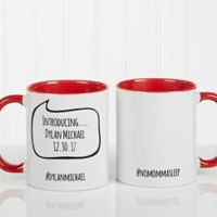 #hashtag Bubble Message 11 oz. Coffee Mug in White/Red