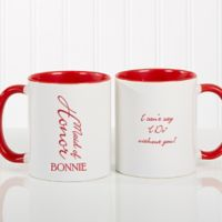 Bridal Brigade 11 oz. Wedding Coffee Mug in Red/White