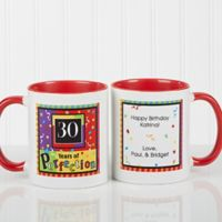 Aged to Perfection Birthday 11 oz. Coffee Mug in White/Red