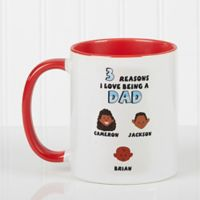 His Reasons Why 11 oz. Coffee Mug in Red