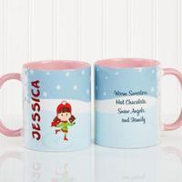 Ice Skating Character 11 oz. Coffee Mug in Pink