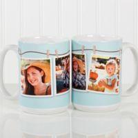 3 Photo Collage 15 oz. Coffee Mug in White