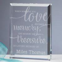 Memory Becomes A Treasure Engraved Keepsake