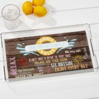 Summer Rules Acrylic Serving Tray