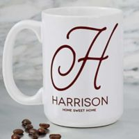 Initial Accent 15 oz. Coffee Mug
