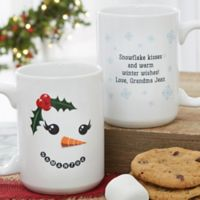 Snowman Character 15 oz. Christmas Coffee Mug in White