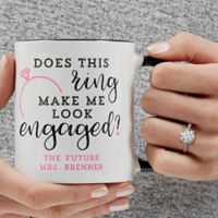 Does This Ring Make Me Look Engaged 11 oz. Coffee Mug in Black