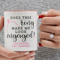 Does This Ring Make Me Look Engaged 11 oz. Coffee Mug in Red