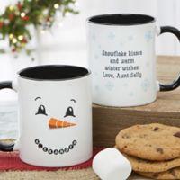 Snowman Character 11 oz. Christmas Mug in Black