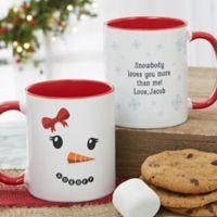 Snowman Character 11 oz. Christmas Mug in Red