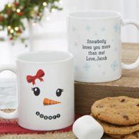 Snowman Character 11 oz. Christmas Mug in White