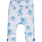 MiracleWear® Size 0-6M Posheez Snap 'n Grow Elephant Print Adjustable/Expandable Pant in Blue