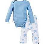 MiracleWear® Size 0-6M 2-Piece Posheez Snap 'n Grow Elephant Long Sleeve Bodysuit Set in Blue