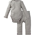Miraclewear Size 0-6M 2-Piece Posheez Snap'n Grow Long-Sleeve Bodysuit and Pant Set in Grey