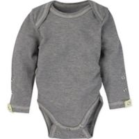 Miraclewear Size 12M Posheez Snap'n Grow Long-Sleeve Bodysuit in Grey