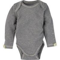Miraclewear Size 12M Posheez Snap'n Grow Long-Sleeve Bodysuit in Grey
