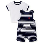 Little Me® Size 3M 2-Piece Sailor Shortall and Shirt Set in Navy/White