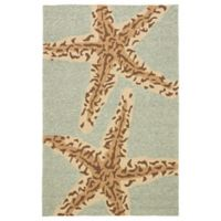 Jaipur Grant Design Sea Star 2-Foot x 3-Foot Indoor/Outdoor Rug