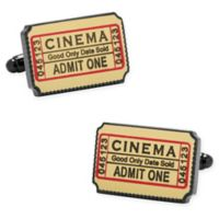 Cufflinks, Inc. Black-Plated Metal and Enamel Cinema Ticket Cufflinks