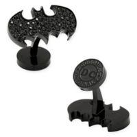 DC Comics Stainless Steel Black Pave Crystal Batman Cufflinks