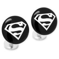 DC Comics Etched Onyx Superman Cufflinks