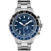 Timex® iQ+Move Men's 43mm Multi-Time Watch in Silvertone Brass