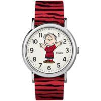 Timex® x Peanuts Weekender Unisex Linus Watch in Silvertone