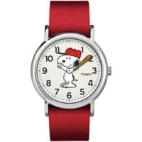 Timex® x Peanuts Weekender Unisex Snoopy Watch in Silvertone