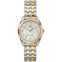 Timex® Briarwood Women's 27mm Watch in Two-Tone Stainless Steel with Expansion Band