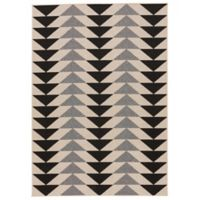Jaipur Patio 2-Foot x 3-Foot 7-Inch Indoor/Outdoor Rug in Black/Grey