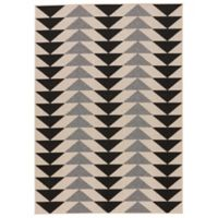 Jaipur Patio 5-Foot 3-Inch x 7-Foot 6-Inch Indoor/Outdoor Rug in Black/Grey