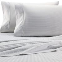 Heartland® HomeGrown™ Pinstripe 400-Thread-Count Twin Sheet Set in Grey