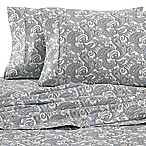 Heartland® HomeGrown™ Paisley 400-Thread-Count Sateen King Sheet Set in Grey