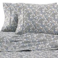 Heartland® HomeGrown™ Paisley 400-Thread-Count Sateen Full Sheet Set in Grey