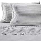 Heartland® HomeGrown™ Stripe 400-Thread-Count Sateen Queen Sheet Set in Navy