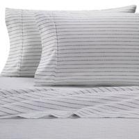 Heartland® HomeGrown™ Stripe 400-Thread-Count King Sateen Pillowcase in Navy