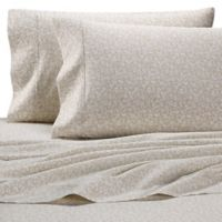 Heartland® HomeGrown™ Floral 400-Thread-Count Sateen Full Sheet Set in Stone