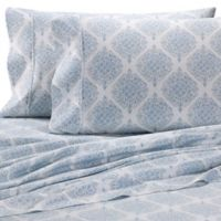 Heartland® HomeGrown™ Medallion 400 TC Sateen Full Sheet Set in Light Blue