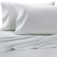 Heartland® HomeGrown™ Geo 400-Thread-Count Printed Sateen Pillowcase in Mint