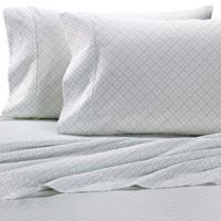 Heartland® HomeGrown™ Geo 400-Thread-Count Printed Sateen Pillowcase in Mint