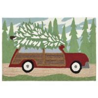Liora Manne Woody Wonderland 2-Foot 6-Inch x 4-Foot Indoor/Outdoor Mat in Pine