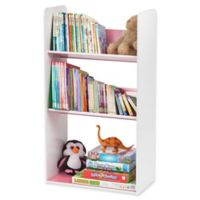 IRIS® Children's Angled 3-Shelf Bookcase in White and Pink