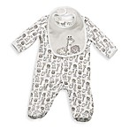 Little Me® Size 3M Safari Footie with Bib