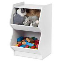 IRIS® 2-Tier Scalloped Storage Shelf in White