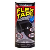 Flex Tape™ 8-Inch x 5-Foot Strong Rubberized Waterproof Tape in Black