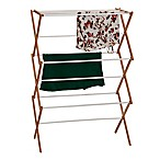 Household Essentials® Collapsible Clothes Drying Rack in Natural/White