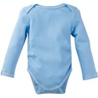 MiracleWear Size 9M Solid Long Sleeve Bodysuit in Blue