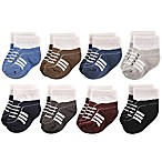 Hudson Baby® Size 0-6M 8-Pack Athletics Short Crew Socks